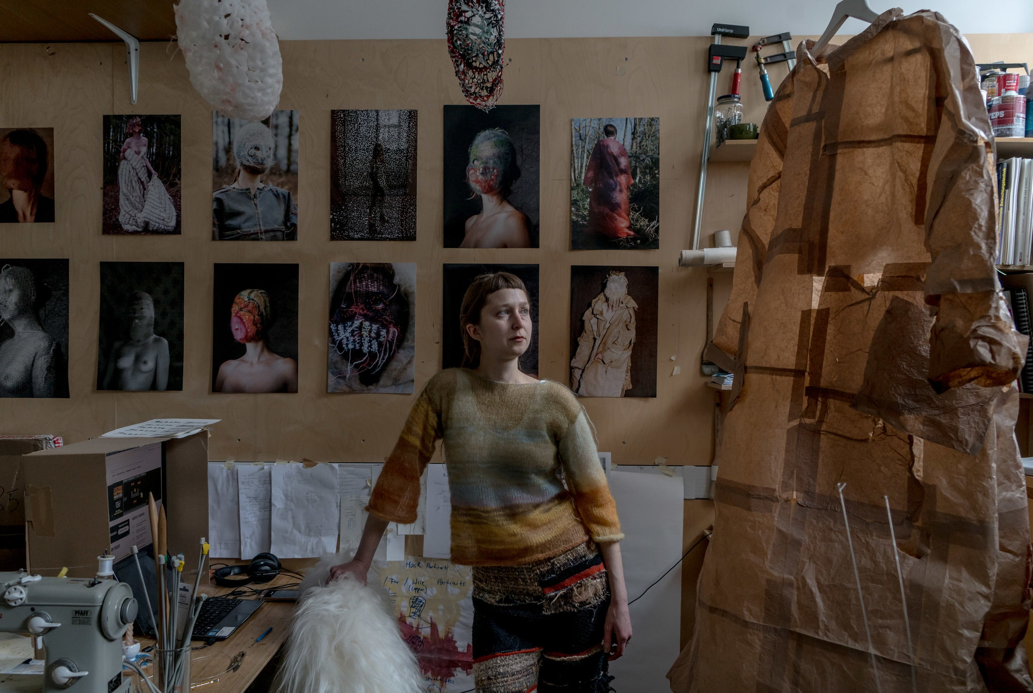 Jasmin Reif in her studio at the Sarabande Foundation in London By Andrew Testa for The New York Times